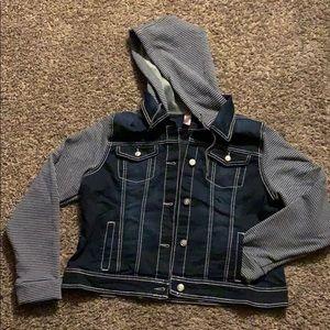 Jean jacket with hoodie